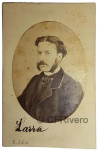 E. Juliá. Retrato de Luis Mariano de Larra. Madrid, Ca. 1865. Albúmina