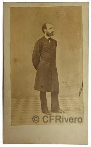 Martínez Sánchez, José. Retrato de Pedro Antonio de Alarcón. Madrid, Ca. 1860. Albúmina