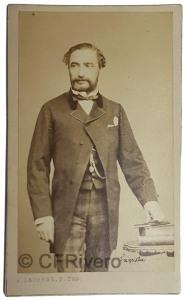 Jean Laurent. Retrato de Práxedes Mateo Sagasta. Madrid, 1860/65. Albúmina