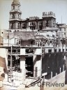 [Joaquín Oses]. Construcción de la Calle Larios: manzana 4ª, esquina a c/ La Bolsa. Málaga, ca. 1888. Albúmina sobre papel. Col. Fernández Rivero