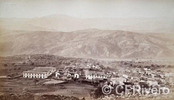 J. Laurent y Cía. Periana, vista tomada desde el cerro de Cupido. Periana (Málaga). Ca. 1890. Albúmina