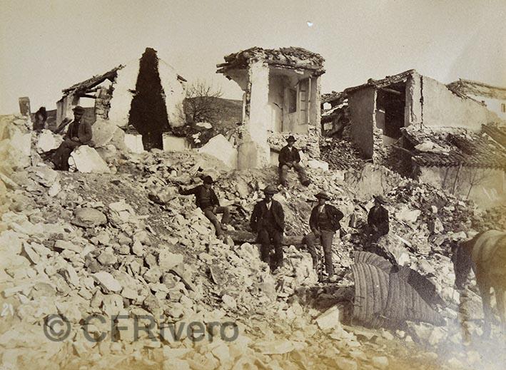 Leonardo Camps. Arenas del Rey, ruinas del terremoto. 1885. Gelatina de plata.