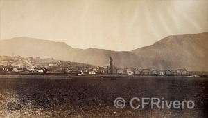 J. Laurent y Cia. Zafarraya, vista del barrio nuevo. Ventas de Zafarraya (Granada). Ca. 1890. Albúmina