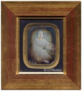 Franck y Wigle. Retrato de una joven. Daguerrotipo iluminado. Barcelona, 1850/60
