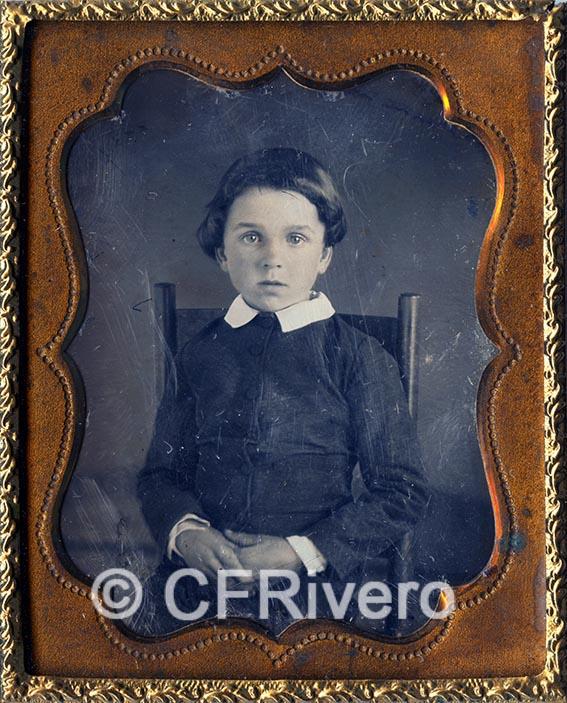 Autor desconocido. Retrato de un niño. Daguerrotipo. Ca. 1860