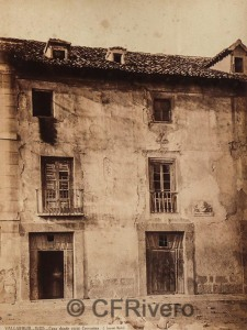 Jean Laurent. Valladolid, casa donde vivió Cervantes. Albúmina, ca. 1870