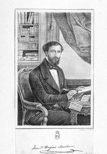 Retrato de Francisco Vargas Machuca. Litografía anónima. Lit. Martínez y C.ª. Madrid. 1851. Biblioteca Nacional de España.