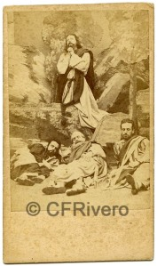 José Pavón y Gómez. Oración en el Huerto de los Olivos. Sevilla, ca. 1870. Albúmina