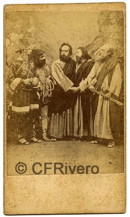 José Pavón y Gómez. Prendimiento de Jesús. Sevilla, ca. 1870. Albúmina