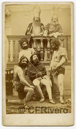 José Pavón y Gómez. Jesús ante los Sumos Sacerdotes. Sevilla, ca. 1870. Albúmina