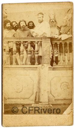 José Pavón y Gómez. Jesús ante Caifás. Sevilla, ca. 1870. Albúmina
