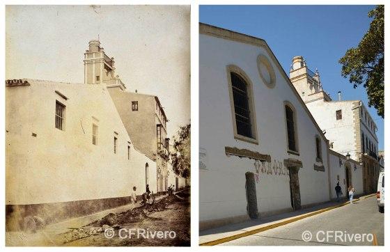 Rafael Rocafull. [Bodega de Mora] Fachada exterior de la casa y bodegas. Puerto de Santa María. 1870/80. Albúmina / Aspecto en 2016