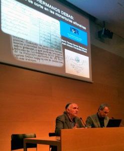 Juan Antonio Fernández Rivero en la presentación de este trabajo sobre los Hermanos Debas. Jornadas Imatge i Recerca, Girona, nov. 2016