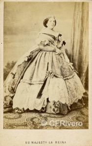 Retrato de Isabel II realizado por Charles Clifford, copia falsificada
