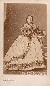 Disderi. Isabel II de España. París, ca. 1865. Carte de visite en albúmina.