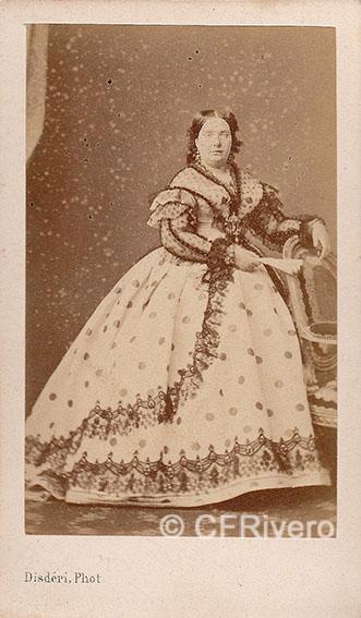 II de España. París, ca. 1865. Carte de visite en albúmina.
