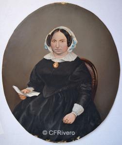 Larauza. Retrato de una joven. Bruselas, 1859-1865. Albúmina iluminada.