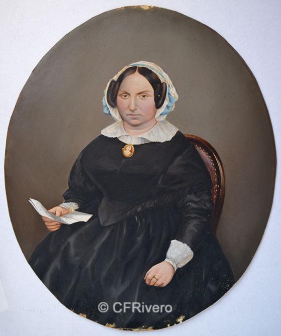 Adolphe Guillaume Larauza. Retrato de una joven. Bruselas, 1859-1865. Albúmina iluminada.