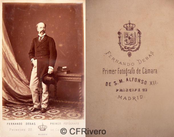 Fernando Debas. Retrato de un caballero. Madrid, ca. 1885. Cabinet en albúmina
