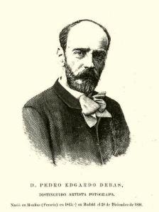 Retrato de Pedro Edgardo Debas aparecido en La Ilustración Española y Americana el 8/1/1892. Gravado