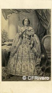 Anónimo. Isabel II de España. Cádiz, Ca. 1860. Carte de visite en albúmina