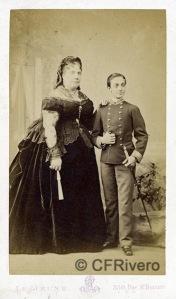 LE JEUNE Augustin Aimé Joseph. Isabel II y Alfonso XII. París Ca. 1870. Carte de Visite en albúmina