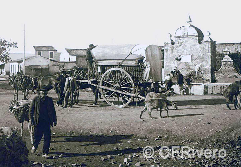 Autor desconocido. Fuenteolletas. Málaga, 1900-1905. Gelatina de plata sobre vidrio.