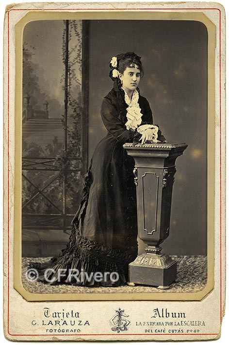 Gustave Larauza. Retrato de una joven. Barcelona 1864/1877. Cabinet en albúmina.