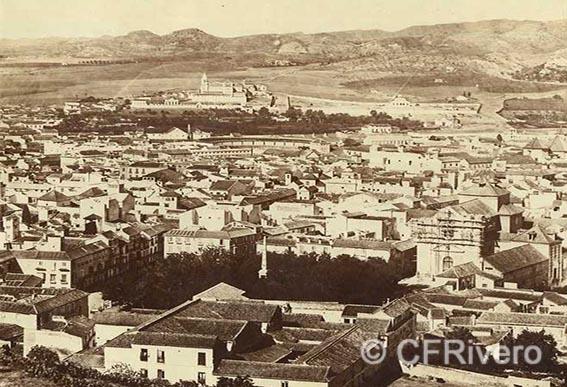 Luis Leon Masson. Panorámica de Málaga desde la Alcazaba (detalle). 1858-1862. Albúmina sobre papel.