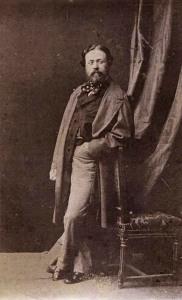 Autor desconocido. Retrato del pintor Dionisio Fierros. Madrid, ca 1861. Albúmina en formato