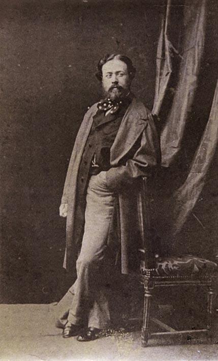 Eusebio Juliá (at.). Retrato del pintor Dionisio Fierros. Madrid, ca 1861. Albúmina (Col. Familia Fierros)