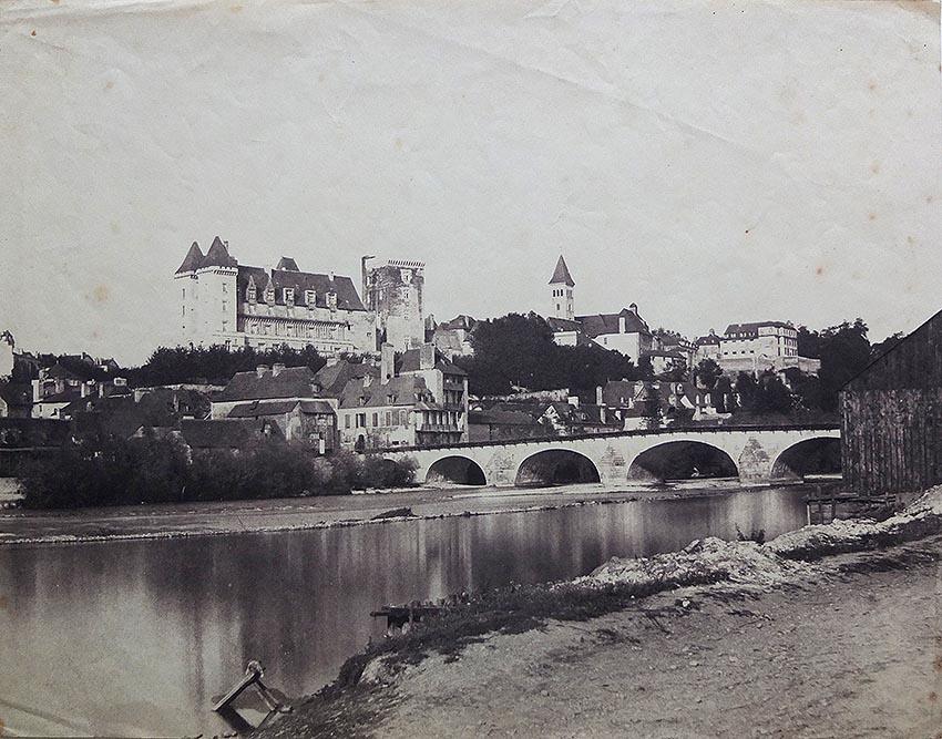 Charles Clifford. Panorámica de Pau. 1859-1860. Albúmina. (Col. Familia Fierros)