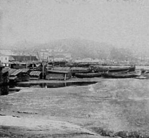 Ferrier-Soulier. 6502 Chantiers de Malaga. 1857. Albúmina. Par estereoscópico