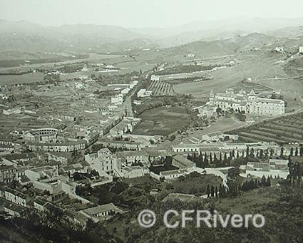 Ferrier-Soulier. 6503 Malaga, vue panoramique des faubourgs. 1857. Colodión sobre vidrio.