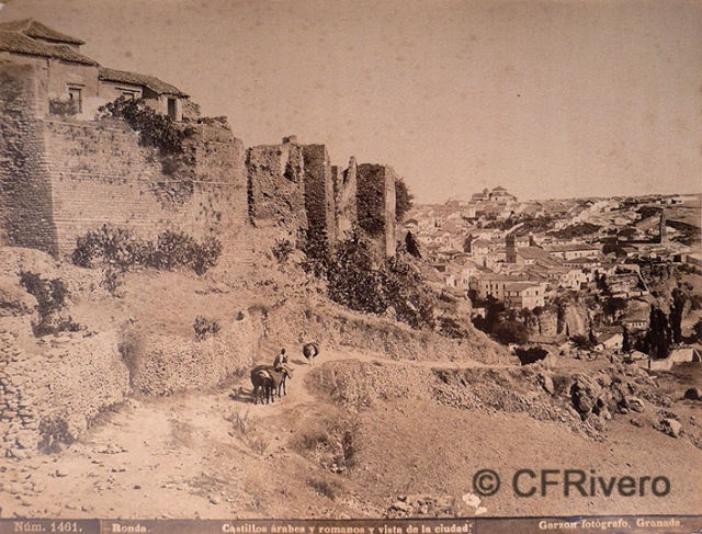 Rafael Garzón. Nº 1461 Ronda, castillos árabes y romanos y vista de la ciudad. Albúmina. Ca 1895