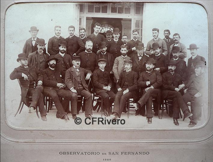 Jules David. Grupo de empleados del Observatorio Astronómico. San Fernando (Cádiz), 1886. Albúmina
