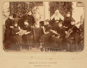 Jules David. Colegio de Niñas Nobles. Granada, 1888. Albúmina