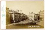 Jean Laurent. Madrid, la Puerta del Sol avec le Ministere. 1864-70. Cabinet en Albúmina