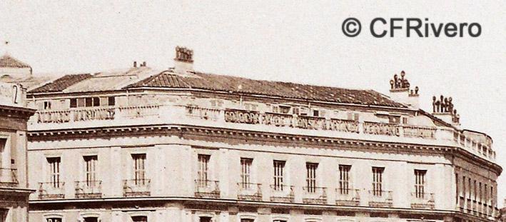 Jean Laurent. Nº 41[a]. Madrid, Puerta del Sol. Detalle. 1865-72. Albúmina