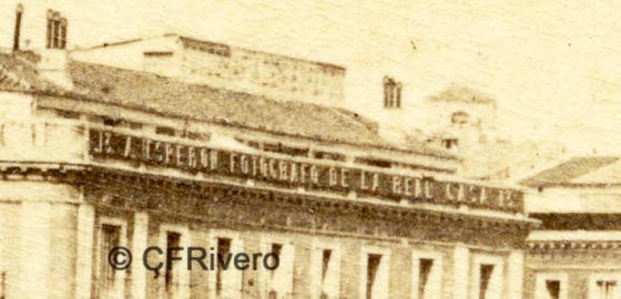 Jean Laurent. Nº 41[b]. Madrid, Puerta del Sol. Detalle. 1865-72. Albúmina