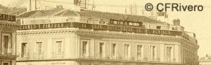 Jean Laurent. Nº 41, Madrid, Vue generale de la Puerta del Sol. Detalle. 1866-72.