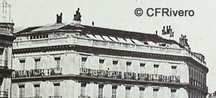 Jean Laurent. Nº 42, Madrid. La Puerta del Sol, vue prise vers la rue d'Alcala. Detalle. Ca. 1864. Albúmina (CFRivero)