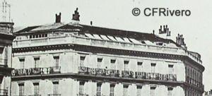 Jean Laurent. Nº 42, Madrid. La Puerta del Sol, vue prise vers la rue d'Alcala. Ca. 1865. Albúmina (CFRivero)