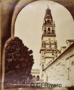 Luis Masson. Córdoba, torre de la Mezquita. Albúmina, ca. 1860. (CFRivero)