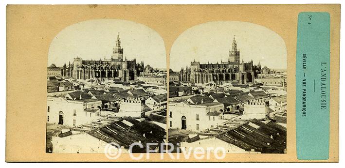 Luis Masson. Sevilla, panorámica desde la Torre del Oro. Albúmina, ca. 1860 (CFRivero)