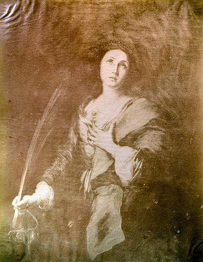 Luis Masson. Santa Catalina, óleo de Murillo. Albúmina, ca. 1862 (CFRivero)