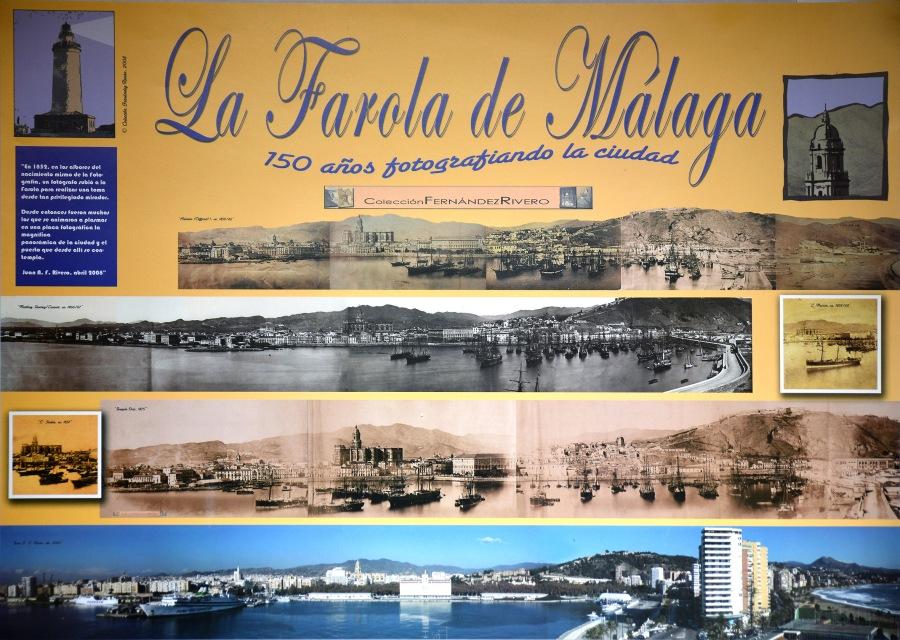 """Fernández Rivero, Juan Antonio. Poster """"La Farola, 150 años fotografiando la ciudad"""". Málaga, 2008"""