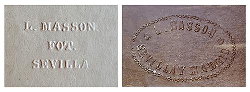 Sellos secos utilizados por Luis Leon Masson
