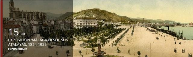 Cartel exposición Málaga desde sus Atalayas, 1854-1925