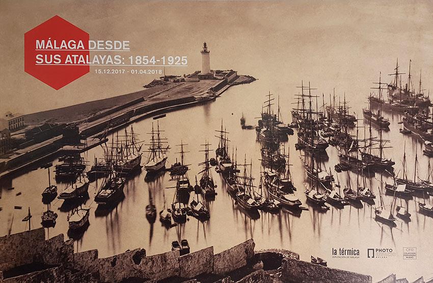 J. Laurent et Cie. Málaga, el puerto. Ca. 1880. Albúmina